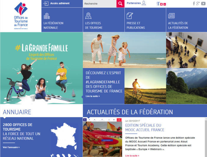 offices de tourisme de france site