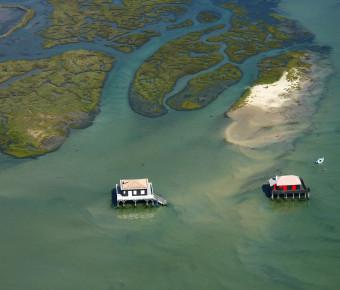 Cabanes Tchanquees sur le Bassin d'Arcachon - SIBA/Brigitte Ruiz