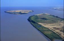 Vue aérienne de l'Ile Nouvelle et ile de Patiras sur l'estuaire de la Gironde - Gironde Tourisme/Danièle Schneider