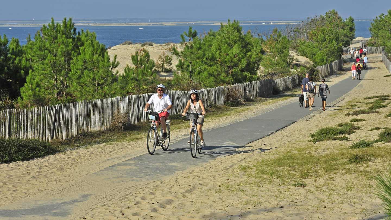 La Vélodyssée - Plage © Gironde Tourisme - Joel Damase