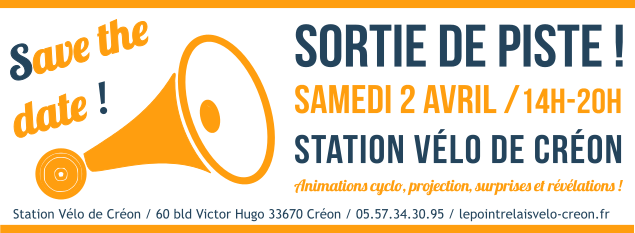 Tous à la Station Vélo de Créon le 02 avril 2016 !