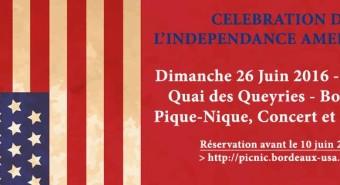 Fête Indépendance américaine 26 juin Bordeaux