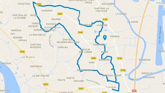 Plan-googlemaps-randonnée-fronsac