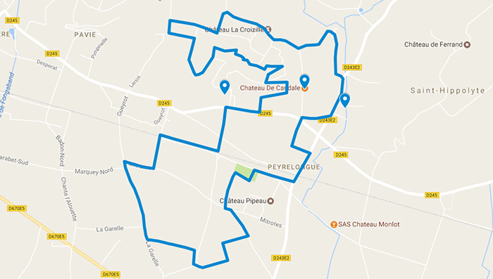 Plan-googlemaps-randonnée-st-laurent-combes