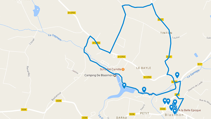 Plan-googlemaps-randonnée-blasimon