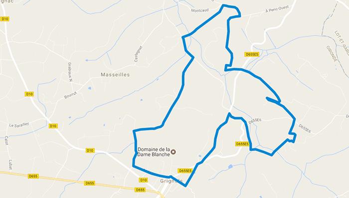 Plan-googlemaps-randonnée-grignols