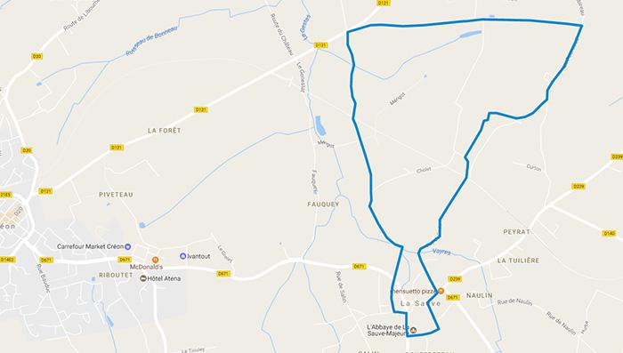 Plan-googlemaps-randonnée-lasauve