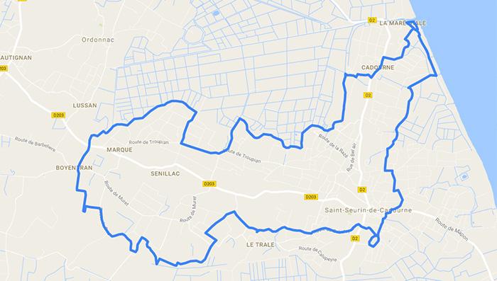 Plan-googlemaps-randonnée-saint-seurin