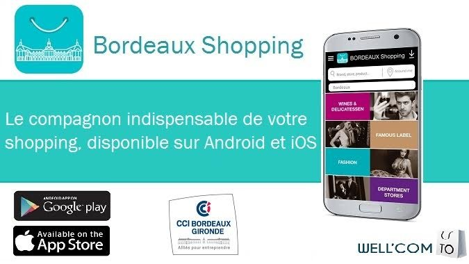 Appli Bordeaux Shopping © CCI Bordeaux
