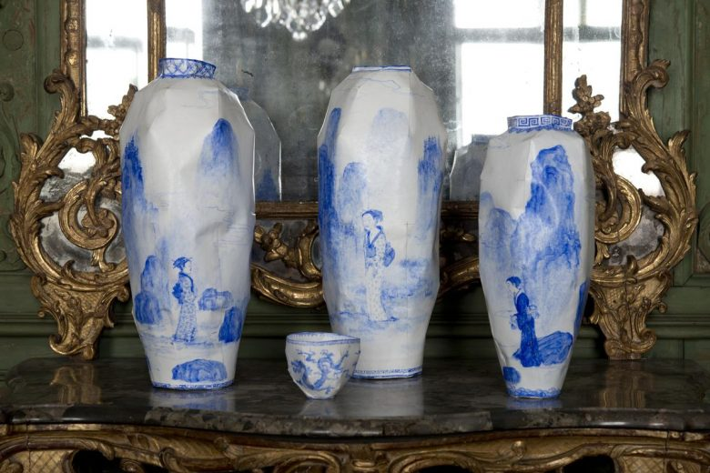 1- Ensemble « Pleurs » trois vases et un bol, Ruth Gurvich, 2001-2002 ©museedesartsdécoratifsetdudesignbordeaux Ph. Lysiane Gauthier