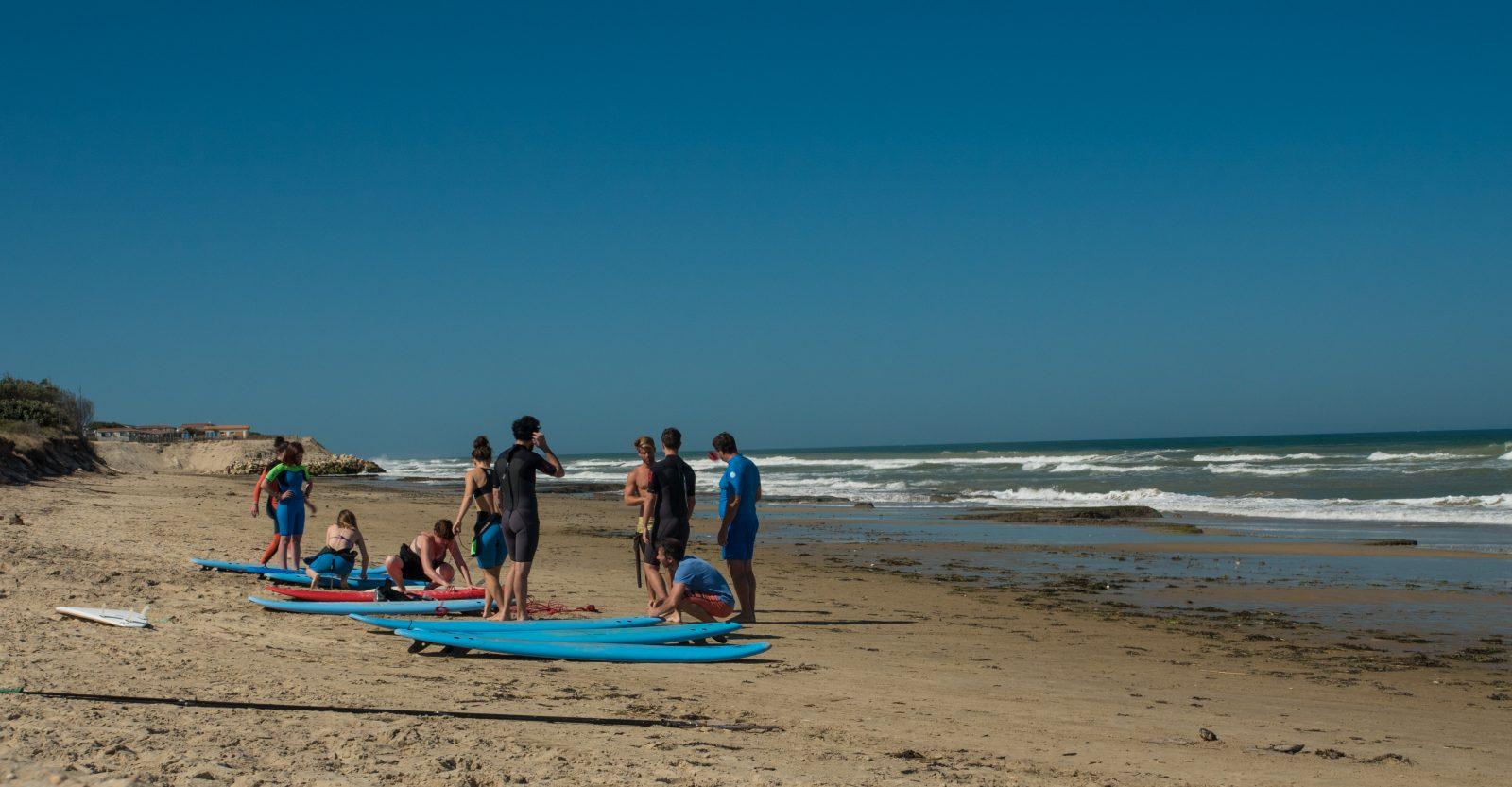 Plage des Naïades (plage sud) surveillée de Soulac-sur-Mer