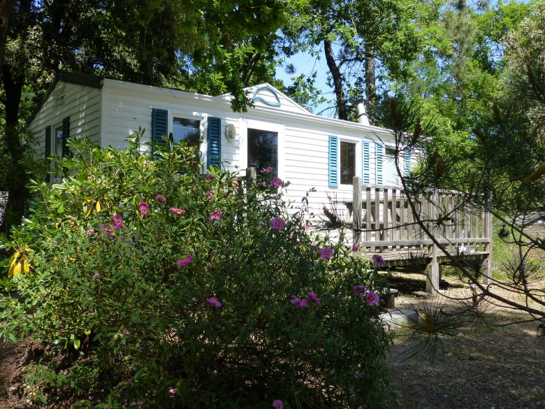 10 locatif MOBILE HOME 32m² 5 6 pers N°34 Flower Camping des Pins Soulac sur Mer