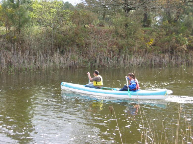 Canoë sur le canal des étangs