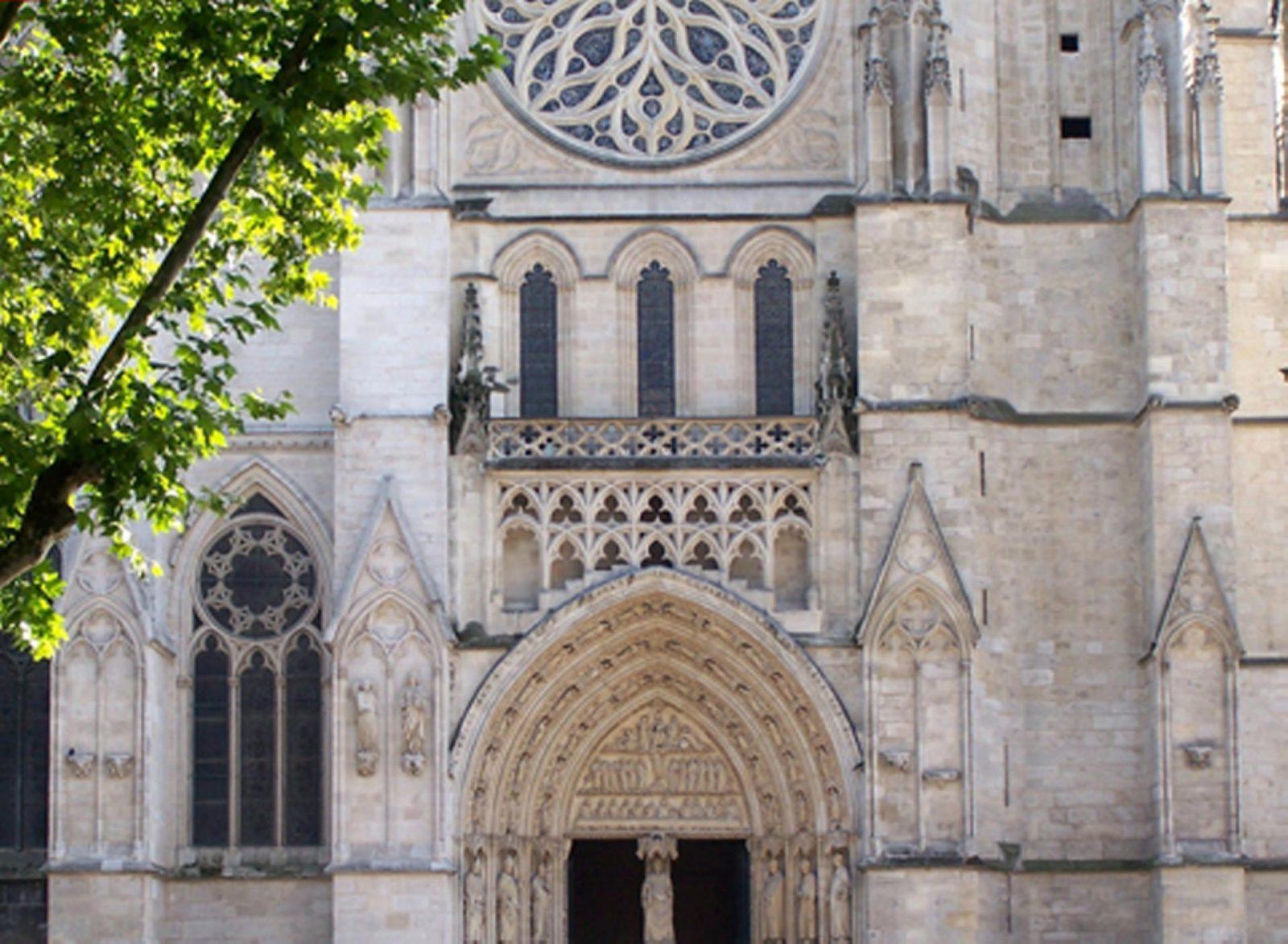 Cathédrale St André – façade du portail Nord
