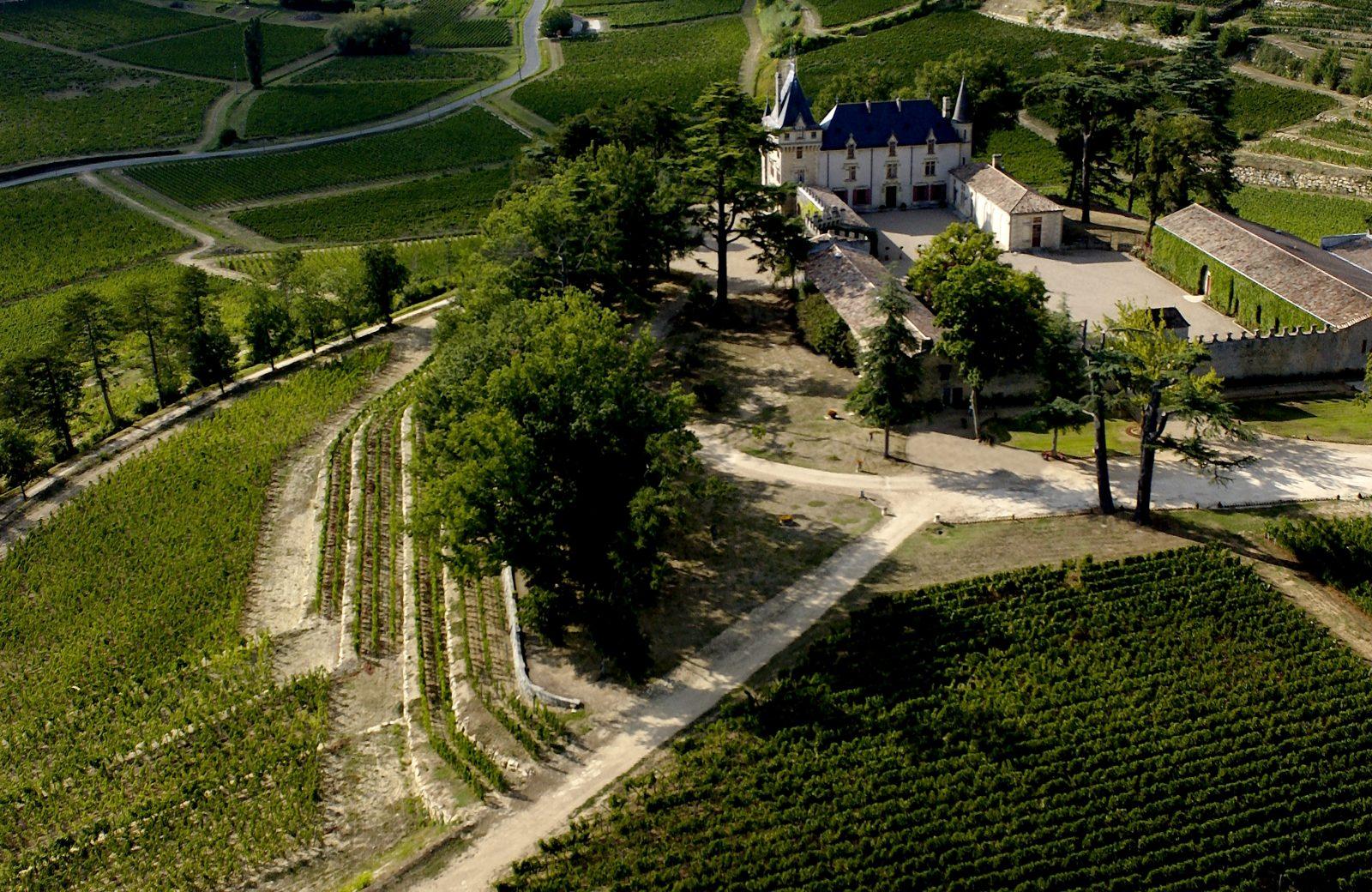 2) Château de Pressac – aerien