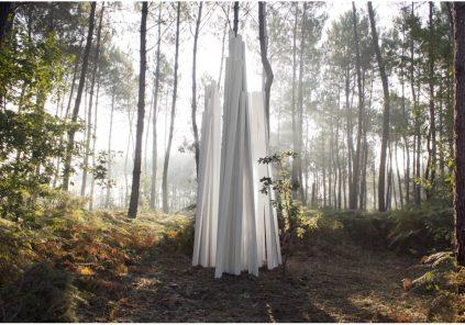 La Forêt d'Art Contemporain : Trois sans nom, oeuvre n°14