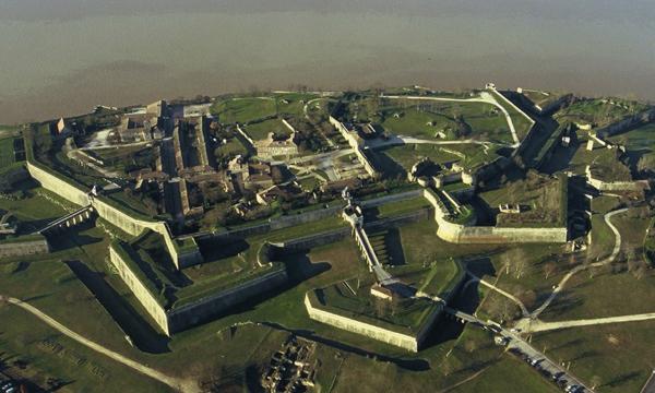 Citadelle de Blaye vue aérienne
