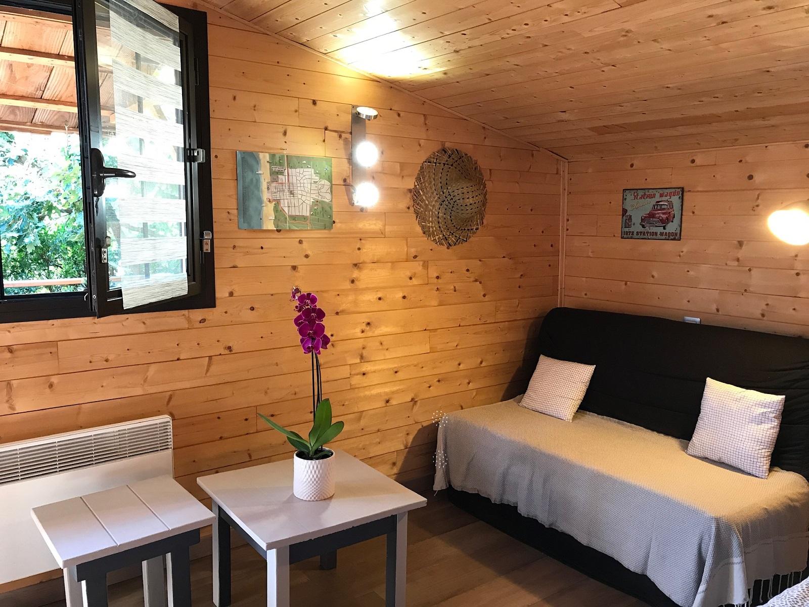 Chambre d'hôte Zen Océan Canapé et tables salon