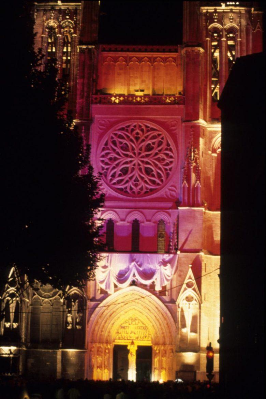 Cathédale St André – illumination du portail Nord