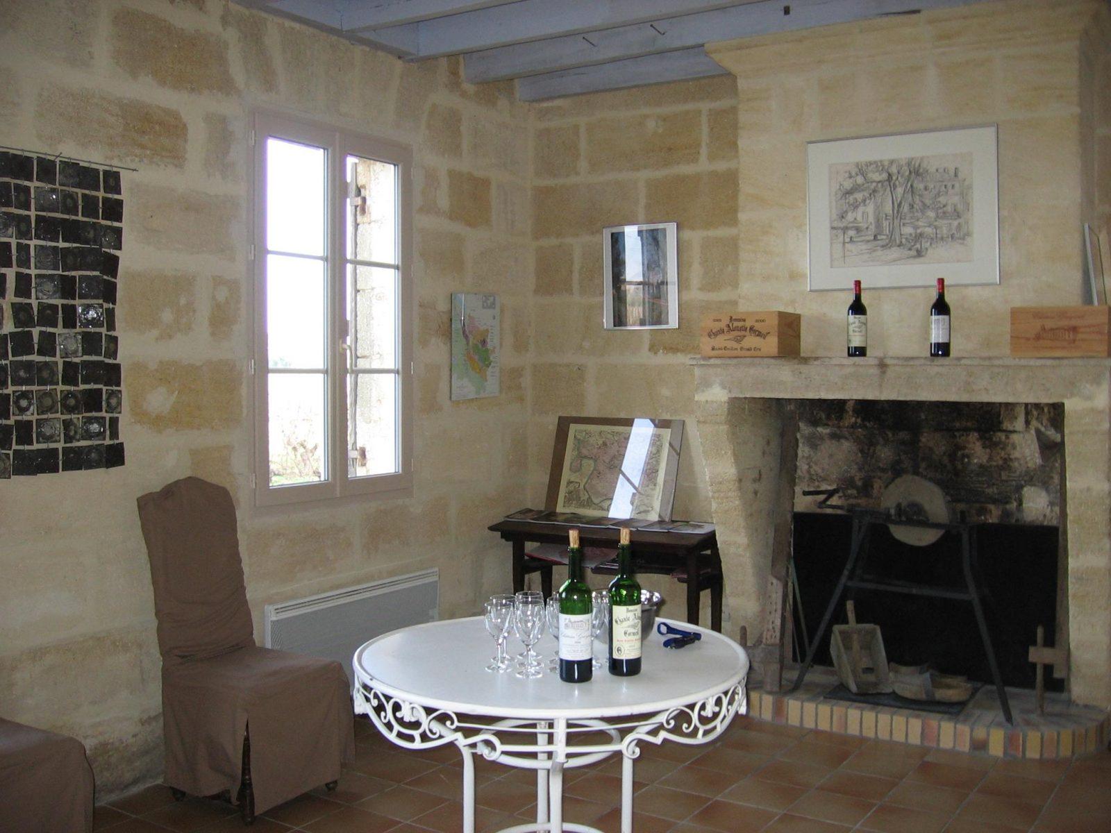 Château Gueyrosse salle de dégustation