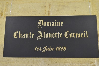 Domaine Chante Alouette Cormeil 1818