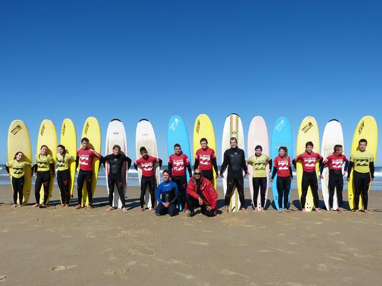 Ecole surf- Boco – Lacanau -groupe