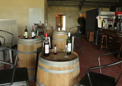 Bar à vin du château Lartigue-Cèdres