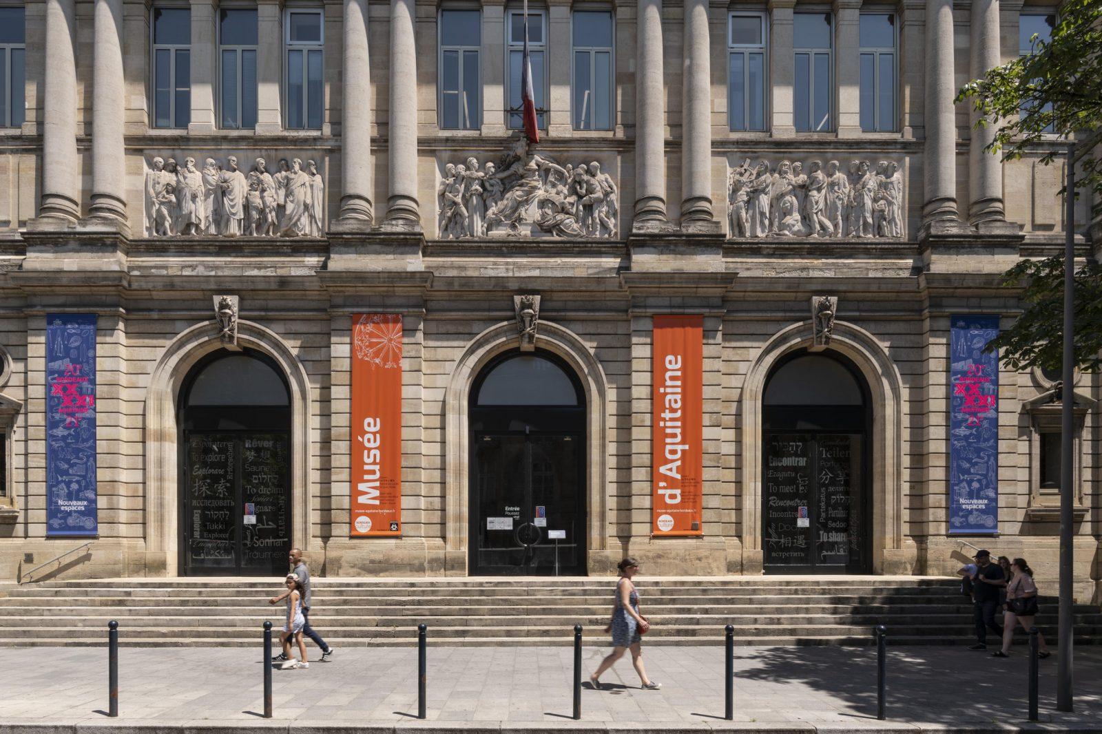 Façade du musée d' Aquitaine