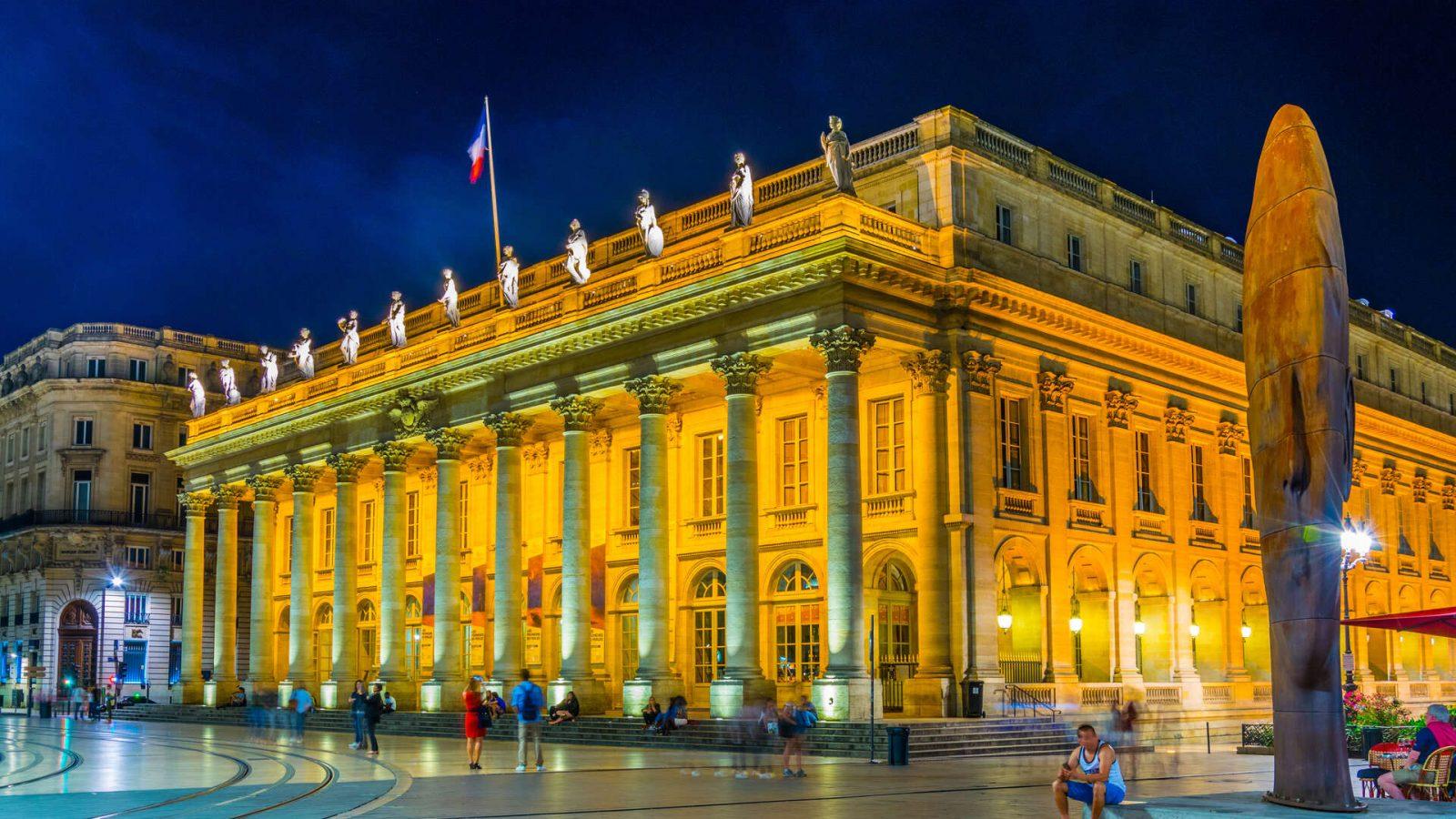 Grand-Théâtre, exterieur nocturne