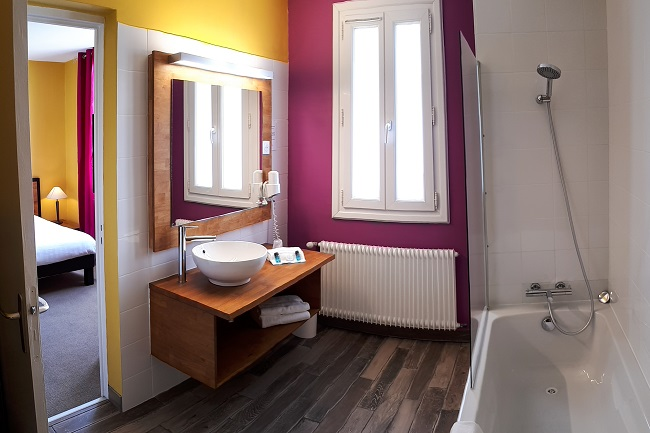 Hôtel Le grain de sable salle de bain – Arès ©Le grain de sable