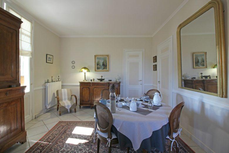 Chambre hôtes Dumas Petit déjeuner Arès