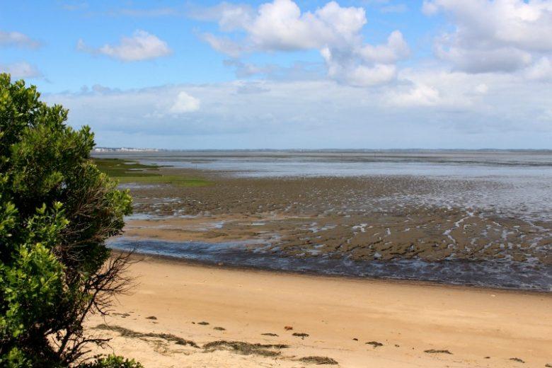Marée basse sentier du littoral
