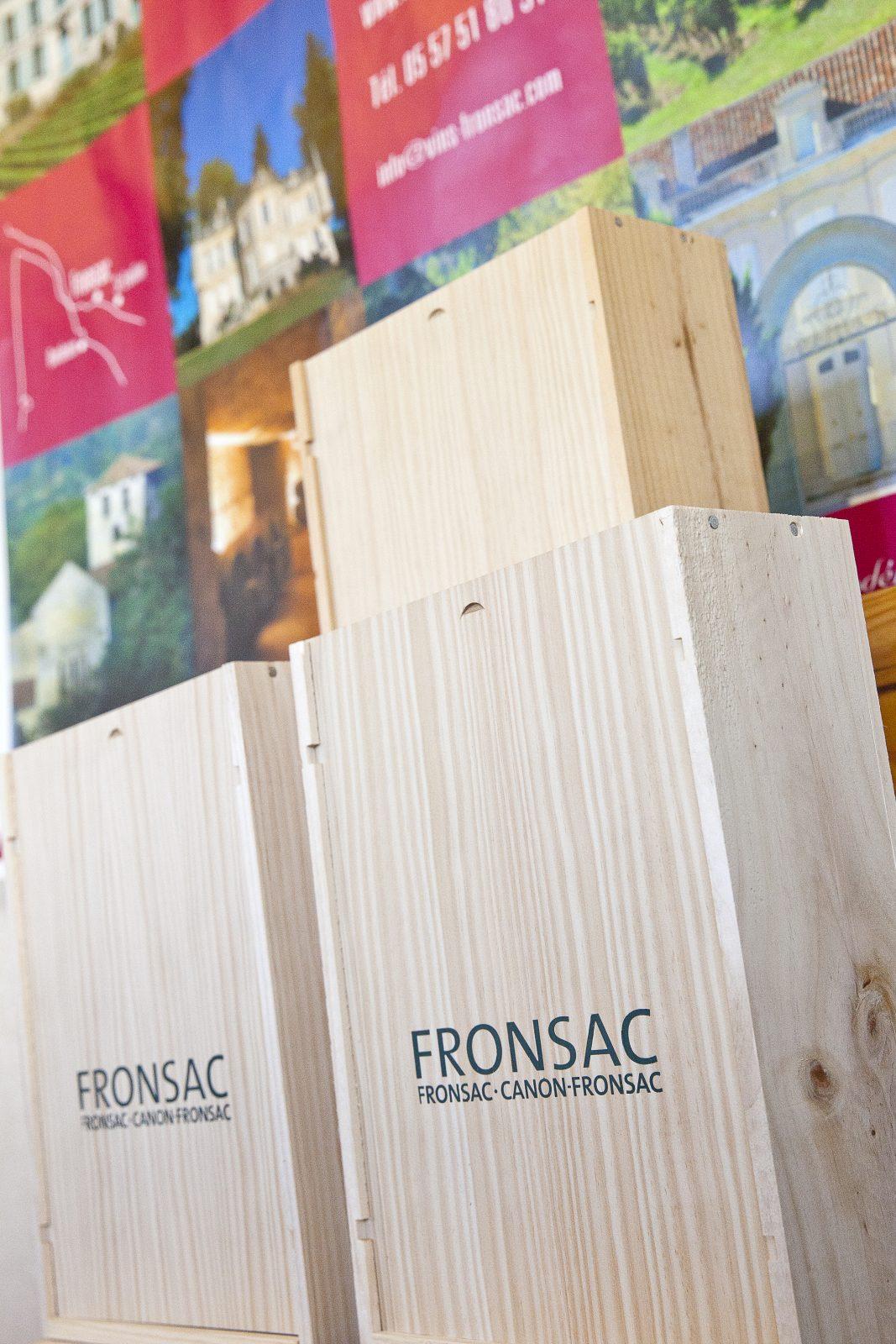 maison des vins Fronsac – caisson bois