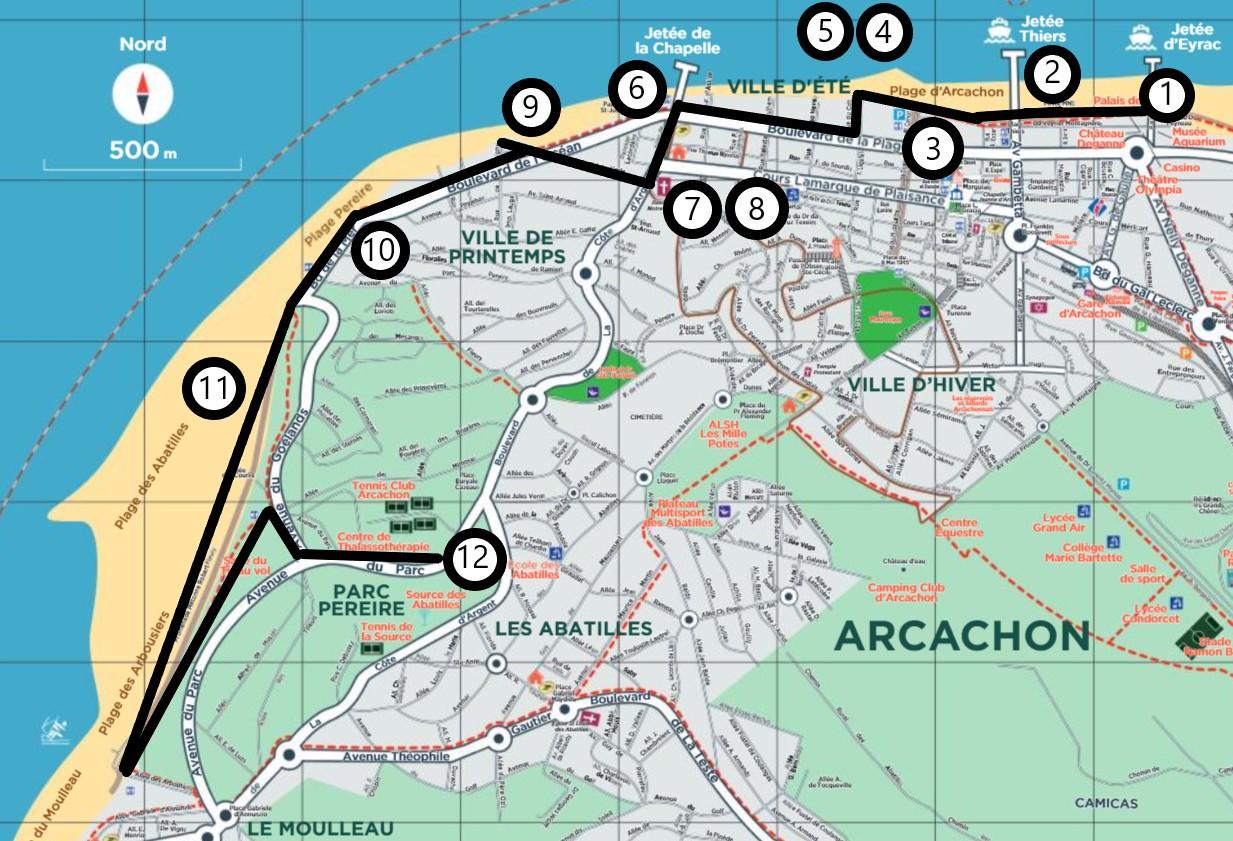 Itinéraire Balade ville d'Automne