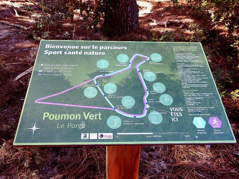 LE PORGE PARCOURS SANTE ET NATURE JOGGING PLAN BIENVENUE