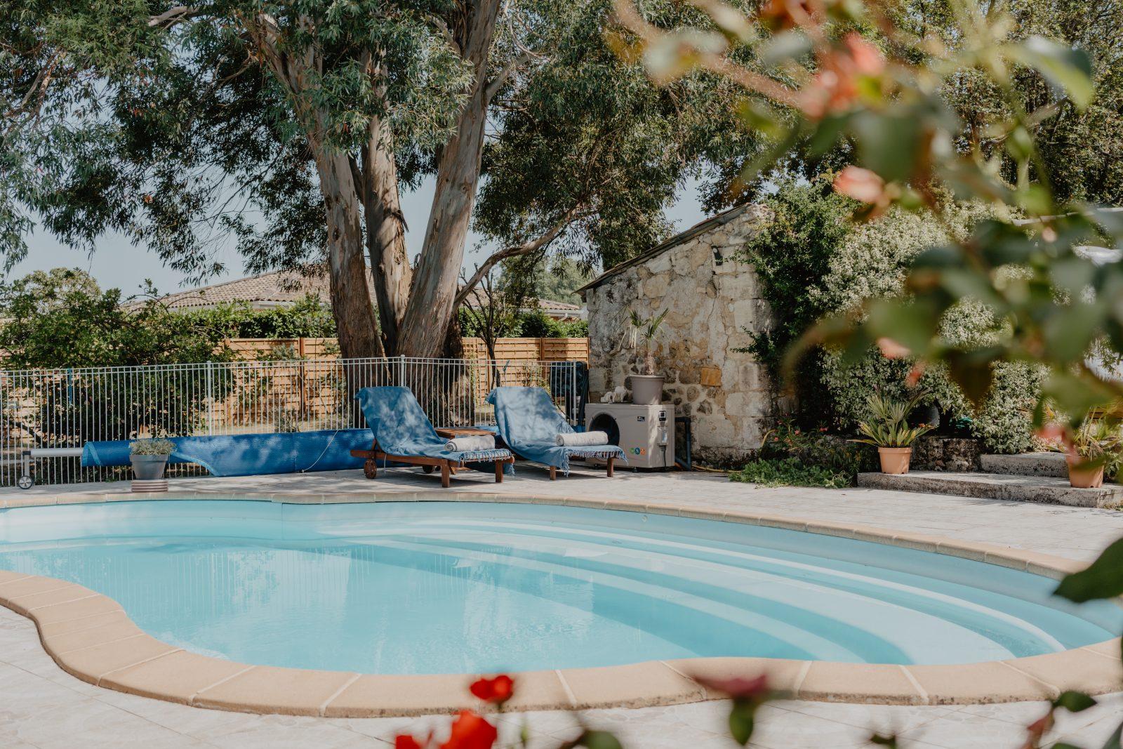 La piscine – Le Coeur des Vignes Pauillac