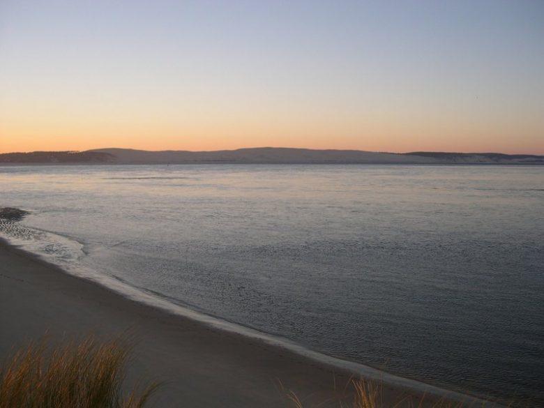 Lever de soleil sur la dune