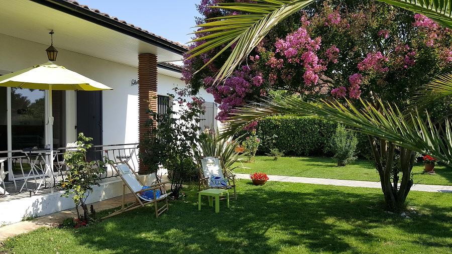 Location de vacances – jardin détente – Arès – Bassin d'Arcachon