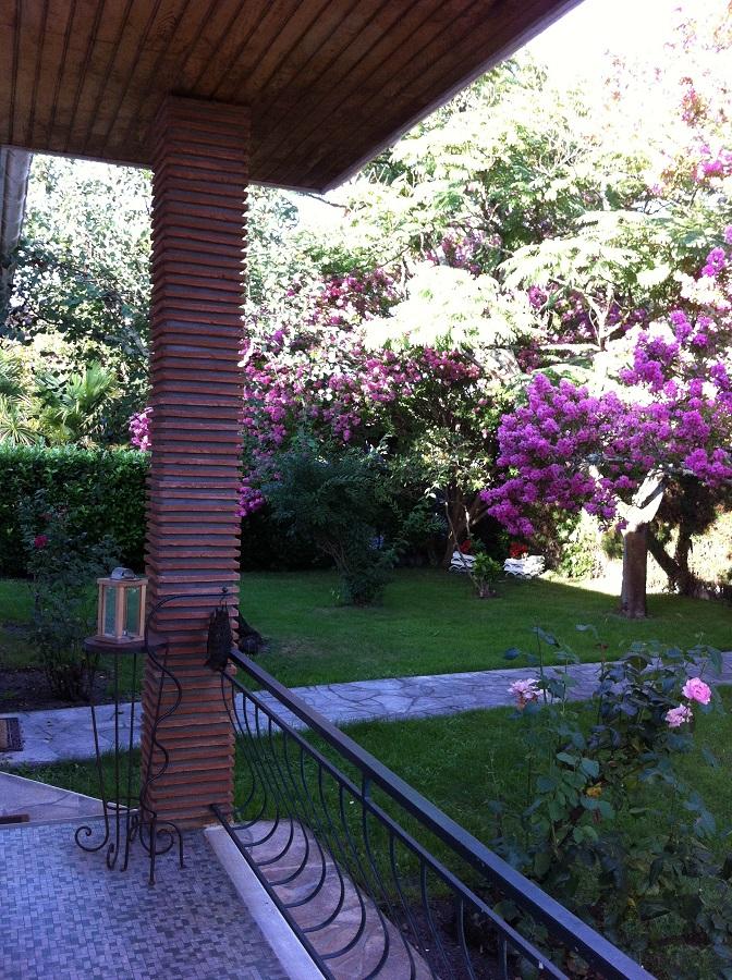 Location de vacances – terrasse fleurie – Arès