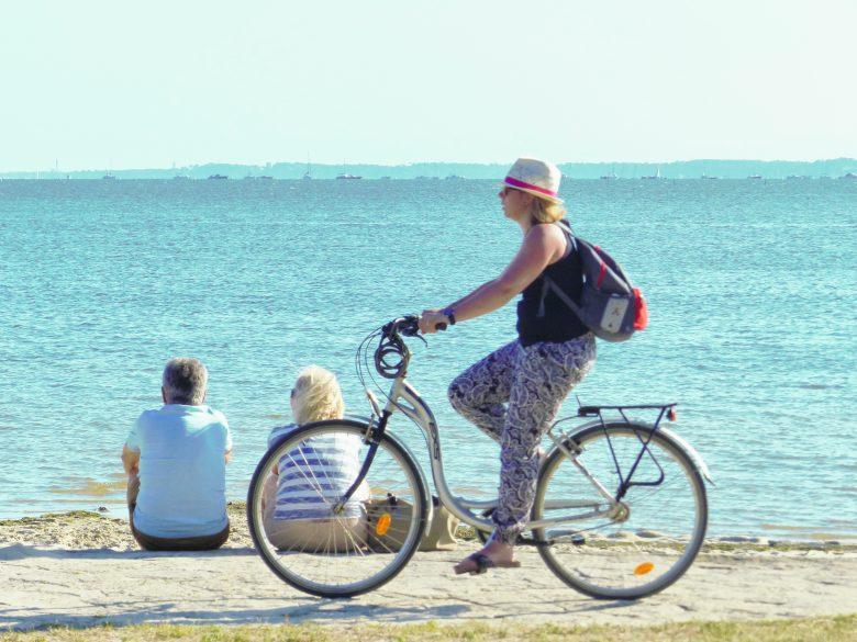 Vélo sur le Bassin d'Arcachon