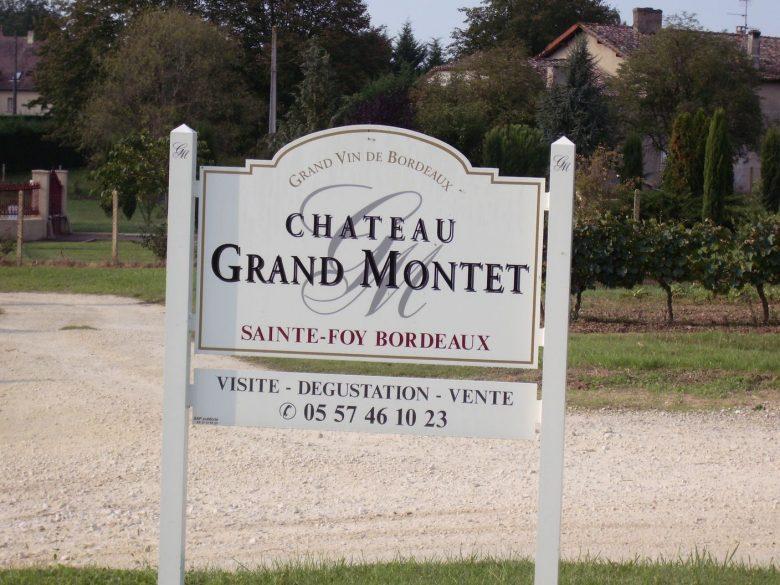 Panneau d'entrée – Château Grand Montet