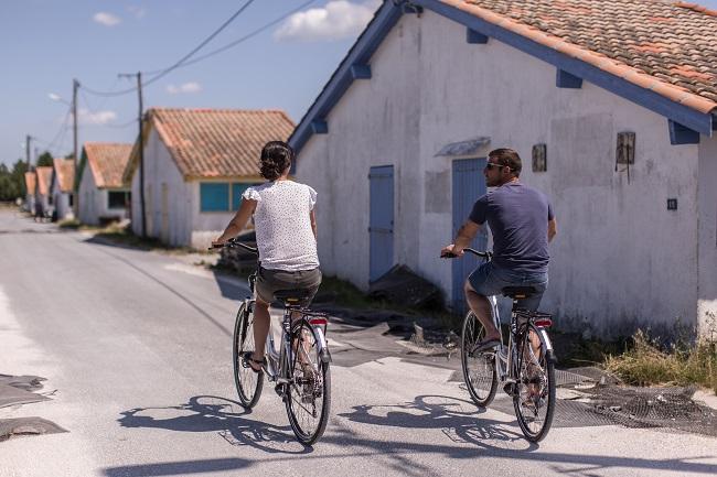 Port ostréicole – vélo ©SIBA – Kévin Biette –