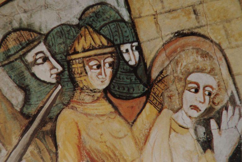 Saint-Macaire détail des fresques de l'église