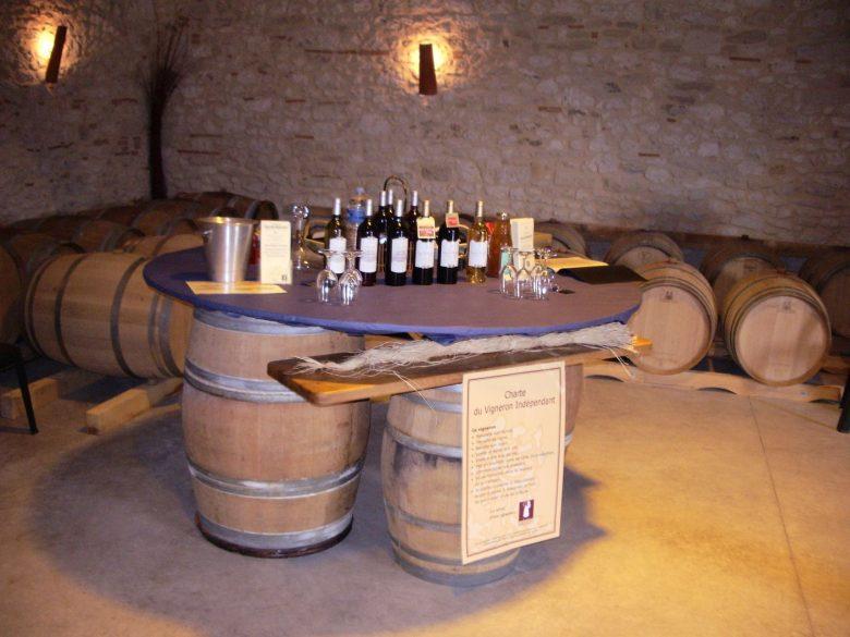 Salle de dégustation – Château Grand Montet