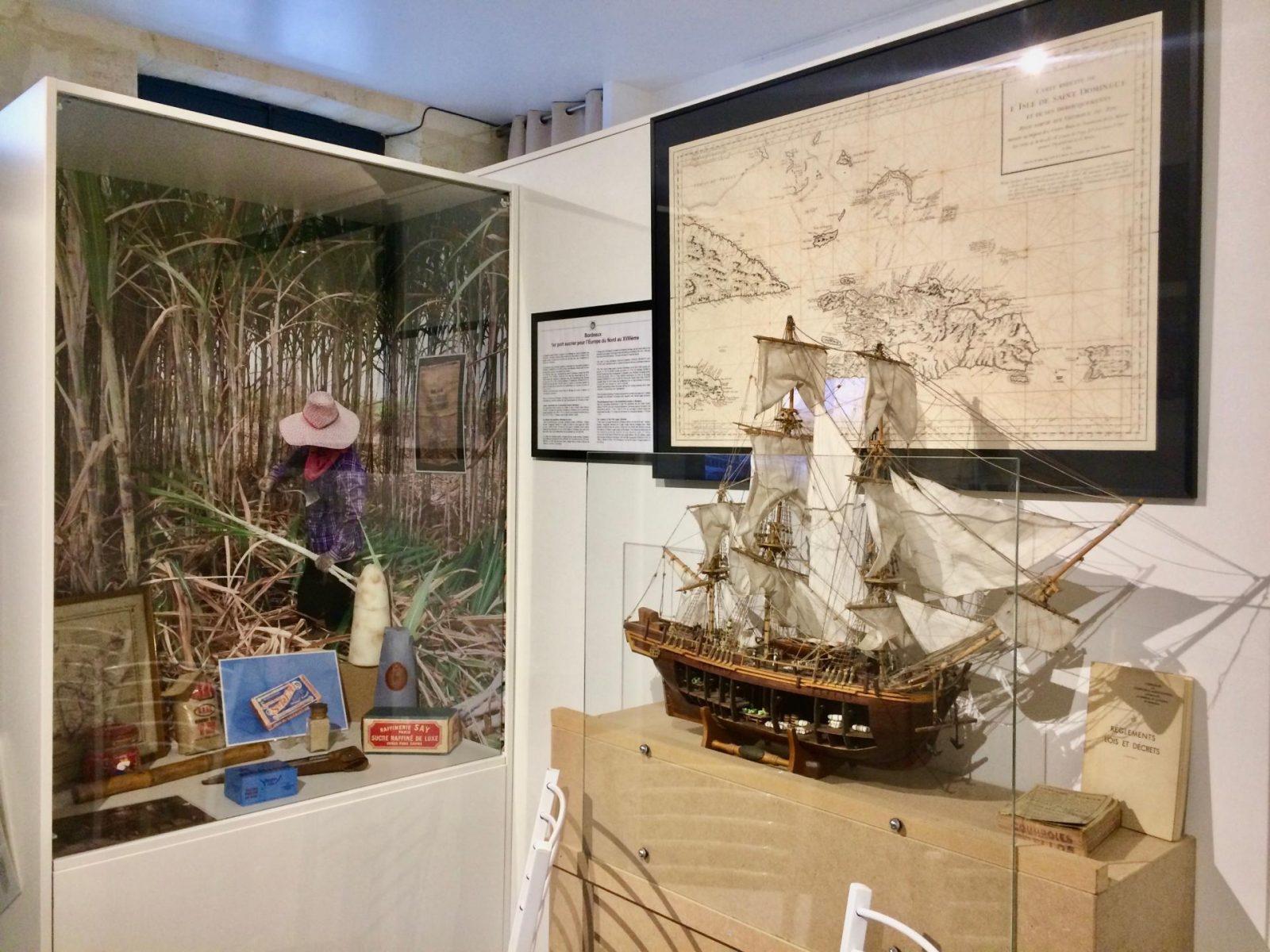 Musée de l'histoire maritime de Bordeaux, le commerce du sucre