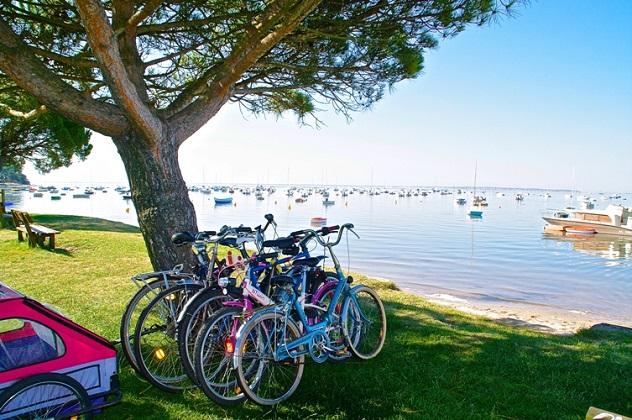 Vélo – plage – arès – bassin arcachon©OT Arès J Rouquette