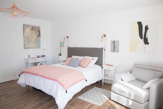 Villa pierartlou – chambre rose – Arès