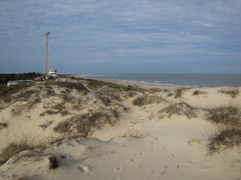 Vue de la plage depuis la pointe