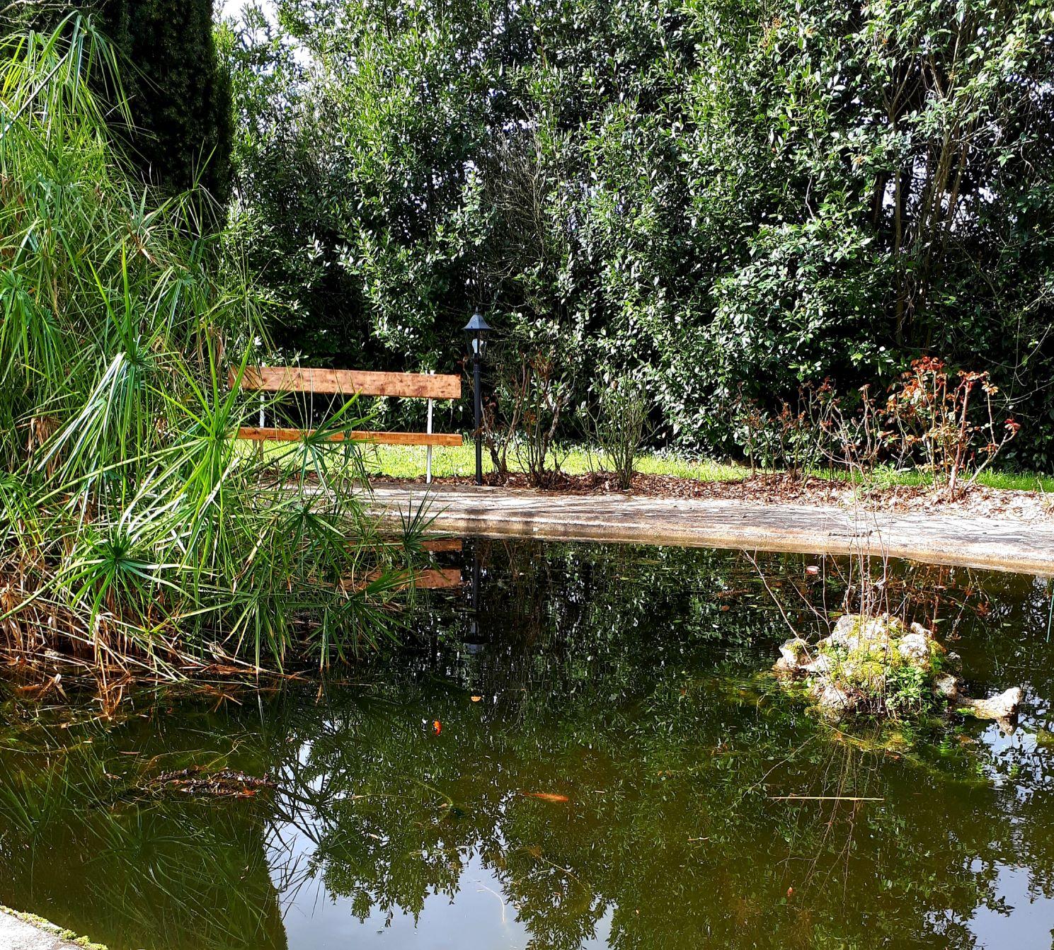 bassin aux poissons du Domaine de Garat
