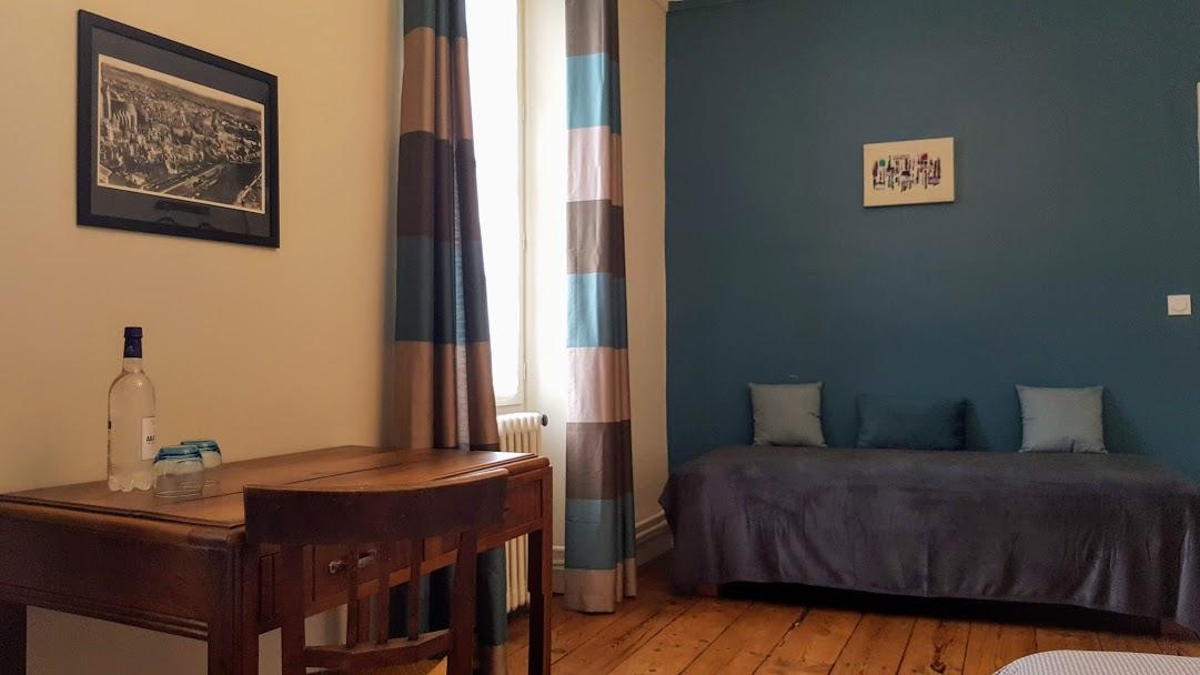 bleue petit lit